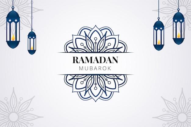 Fondo de saludo de ramadán