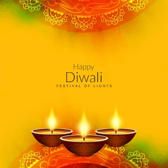 Fondo de saludo religioso abstracto feliz diwali
