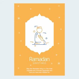 Fondo de saludos de ramadan