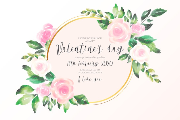 Fondo de san valentín con flores rosas suaves