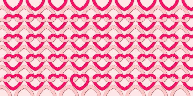 Fondo de san valentín con patrón de corazones encantadores