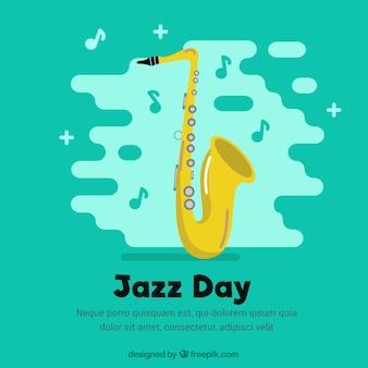 Fondo del saxofón para el día del jazz
