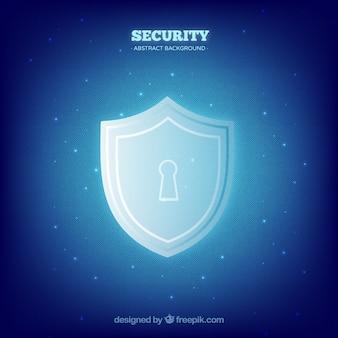Fondo de seguridad azul con cerradura