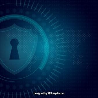 Fondo de seguridad azul oscuro