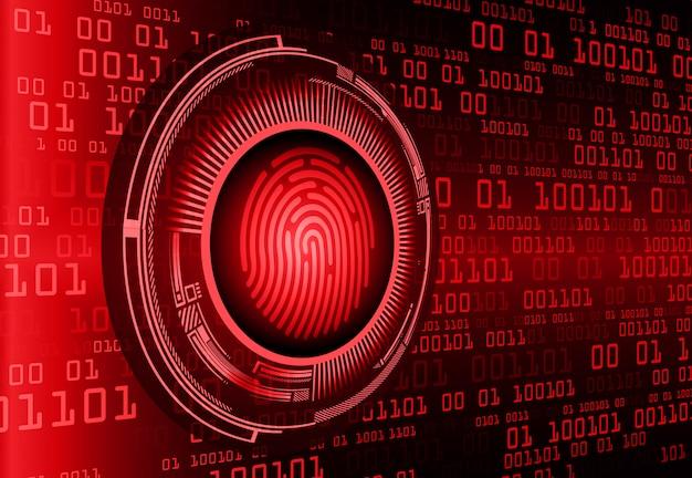 Fondo de seguridad cibernética de la red de huellas dactilares.