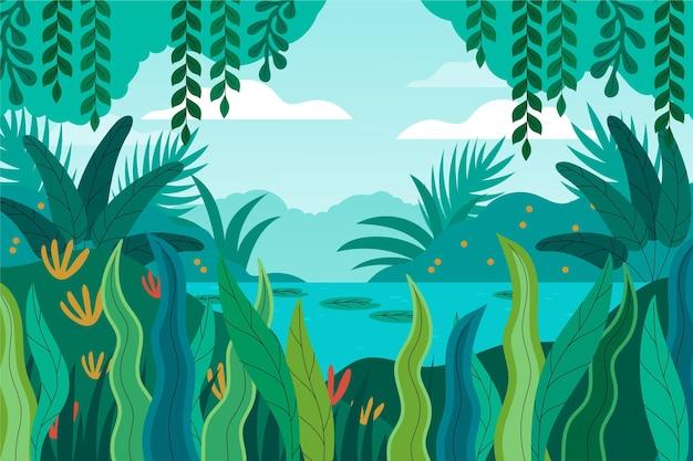 Fondo de selva plana orgánica