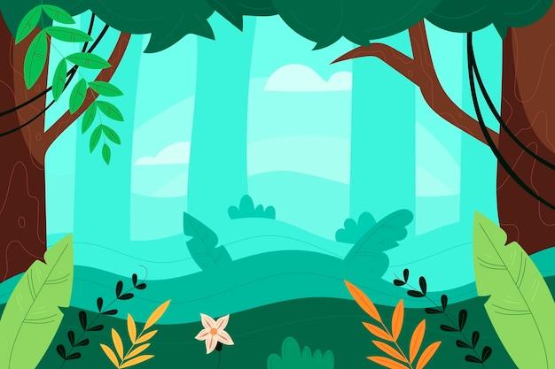 Fondo de selva plana