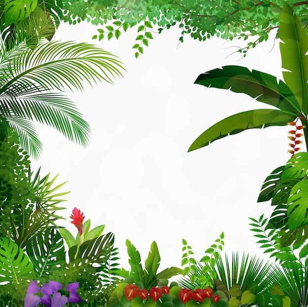 Fondo de la selva tropical