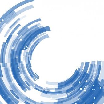Fondo de semicírculos abstractos azules