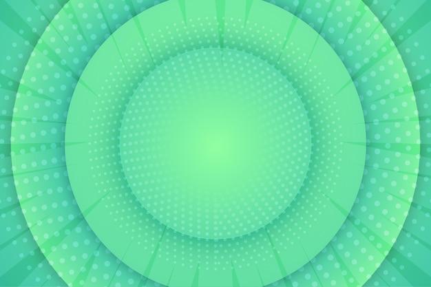 Fondo de semitono abstracto circular verde