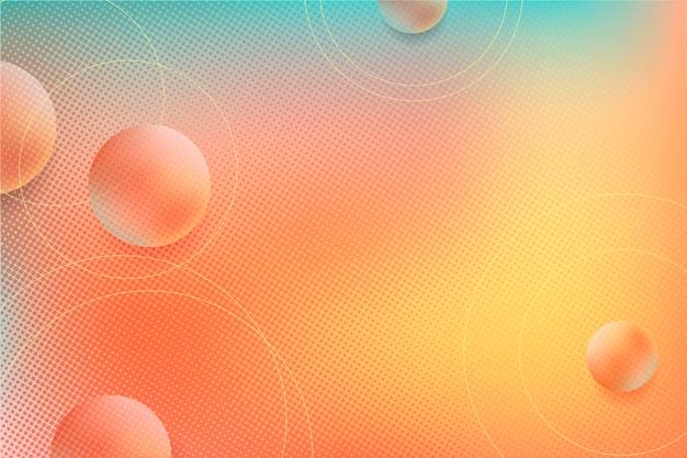 Fondo de semitono abstracto con esferas