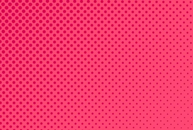 Fondo de semitono de arte pop. patrón de cómic rosa. imprimir con efecto de medio tono. textura retro de dibujos animados