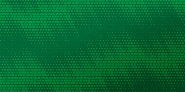 Fondo de semitono de cómic verde