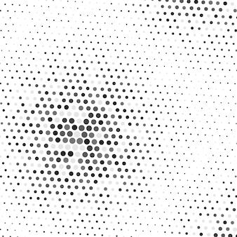 Fondo de semitono geométrico abstracto punto de patrón de grunge futurista