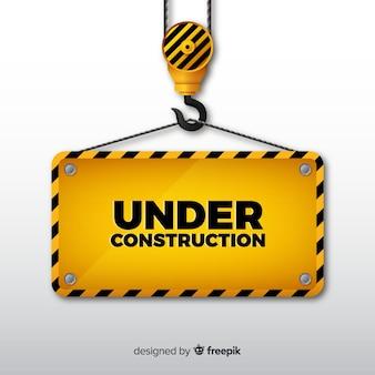 Fondo señal en construcción realista