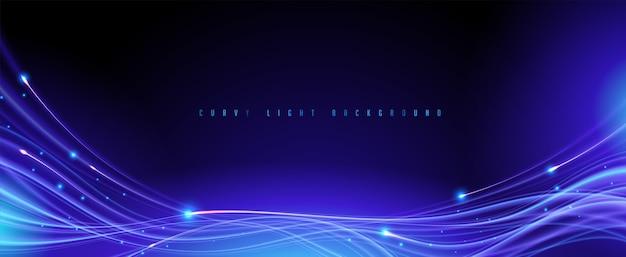 Fondo de senderos de luz con curvas