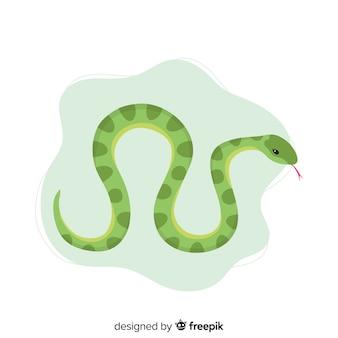Fondo serpiente dibujada a mano
