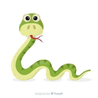 Fondo serpiente divertida dibujada a mano