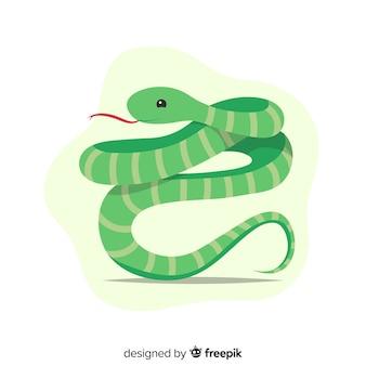 Fondo serpiente siseando dibujada a mano