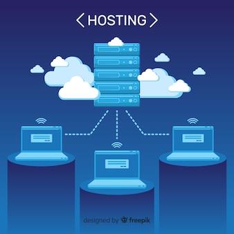 Fondo servicio servidor nubes