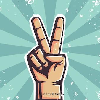 Fondo signo de la paz mano