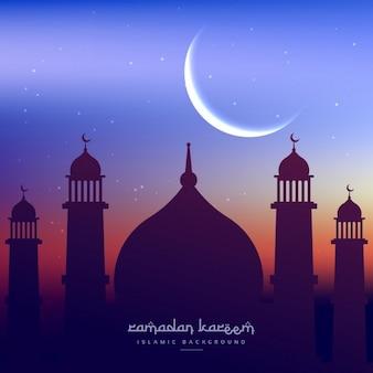 Fondo con silueta de mezquita