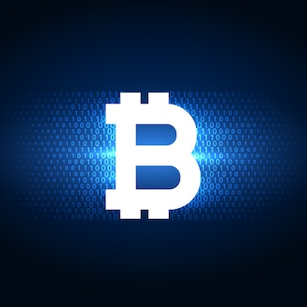 Fondo de símbolo de bitcoins digital de internet