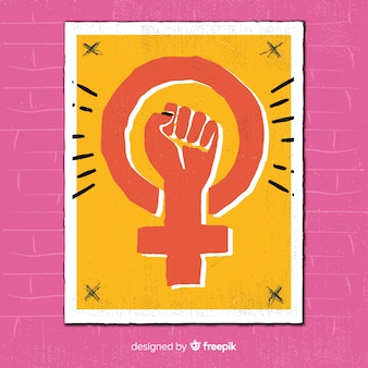 Fondo símbolo feminista