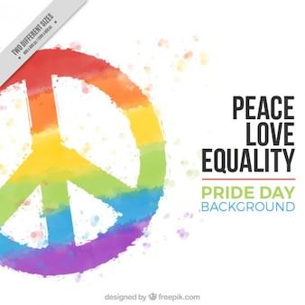 Fondo de símbolo de paz colorido
