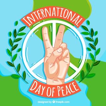 Fondo de símbolos de la paz