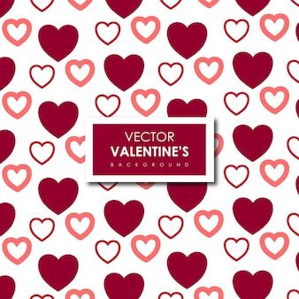 Fondo simple de corazones de san valentín