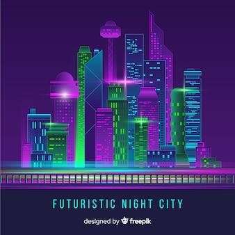 Fondo skyline ciudad futurista