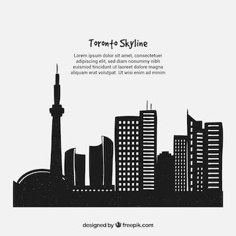 Fondo de la skyline de toronto
