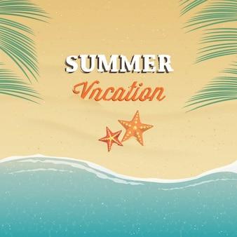 Fondo sobre las vacaciones de verano