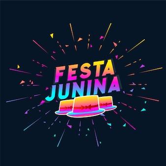 Fondo de sombrero colorido de fiesta junina