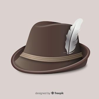 Fondo de sombrero tirolés