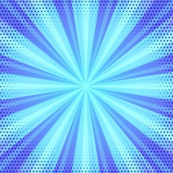 Fondo de starburst abstracto de estilo retro