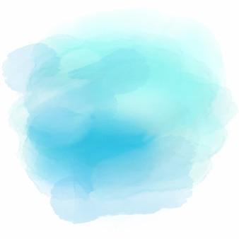 Fondo suave con una linda mancha de acuarela azul