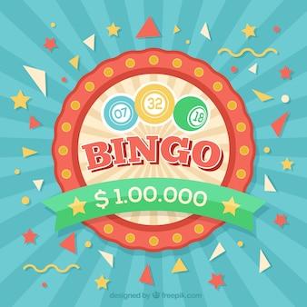 Fondo sunburst de bingo