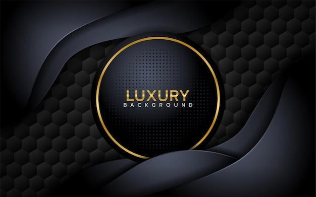 Fondo de superposición de estilo texturado negro 3d