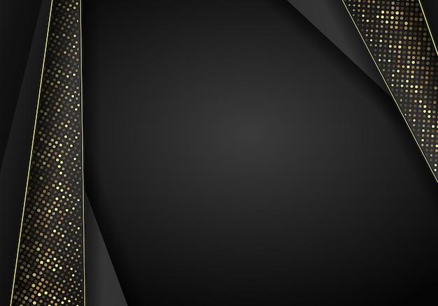 Fondo de superposición metálico oscuro abstracto. fondo 3d abstracto de lujo con una combinación de polígonos luminosos en estilo 3d. diseño gráfico brilla decoración de elementos de puntos.