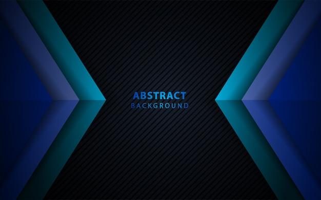 Fondo de superposición de papel azul oscuro abstracto