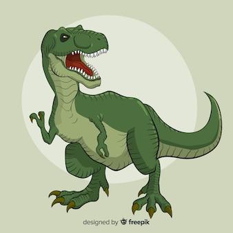 Fondo de t-rex dibujado a mano
