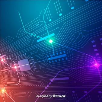 Fondo tabla de circuitos estilo realista
