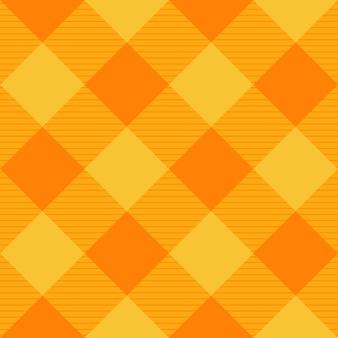 Fondo de tablero de ajedrez de diamante naranja amarillo