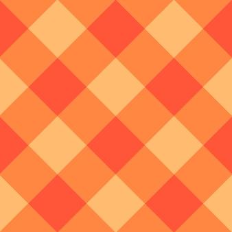 Fondo de tablero de ajedrez de diamante naranja