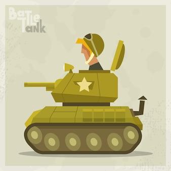 Fondo con tanque verde