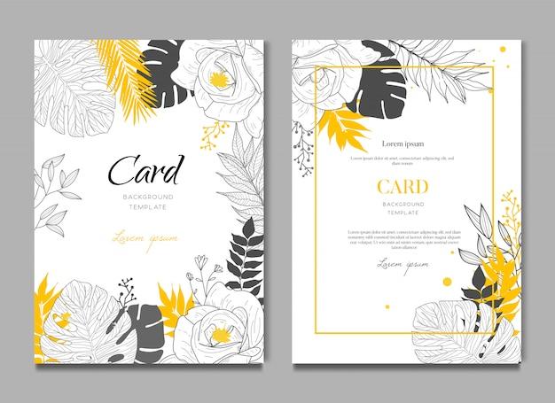 Fondo de tarjeta de boda tropical