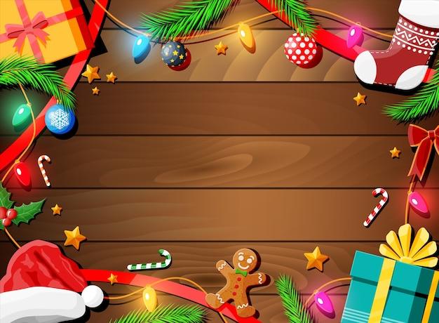 Fondo de tarjeta de felicitación de navidad