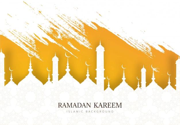 Fondo de tarjeta de felicitación de vacaciones ramadán kareem